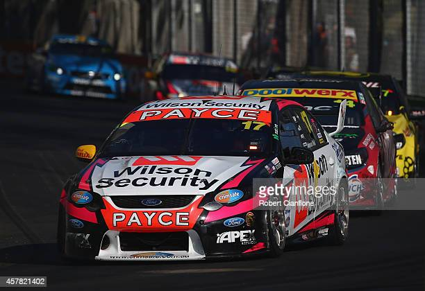 David Wall drives the Security Racing Ford during race 31 for the Gold Coast 600 which is round 12 of the V8 Supercars Championship Series at the...
