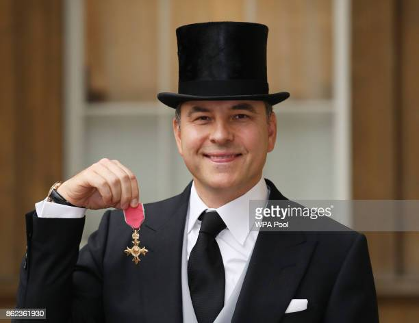 David Walliams after he was awarded an OBE for services to charity and the arts by the Princess Royal during an Investiture ceremony at Buckingham...