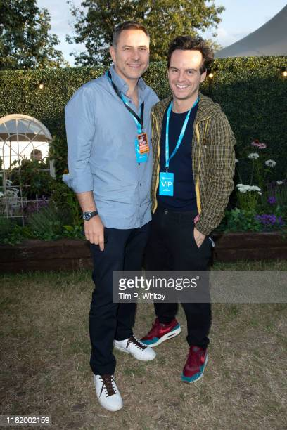 David Walliams and Andrew Scott attend the Barclaycard Exclusive Area at Barclaycard Presents British Summer Time Hyde Park at Hyde Park on July 14...