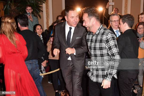 David Walliams and Ant McPartlin share a joke as judges and presenters attend the 'Britain's Got Talent' Blackpool auditions held at Blackpool Opera...