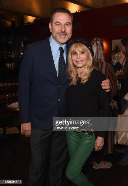 David Walliams and Britt Ekland attend 'In Conversation With Malcolm McDowell' at the BFI Southbank on April 5 2019 in London England