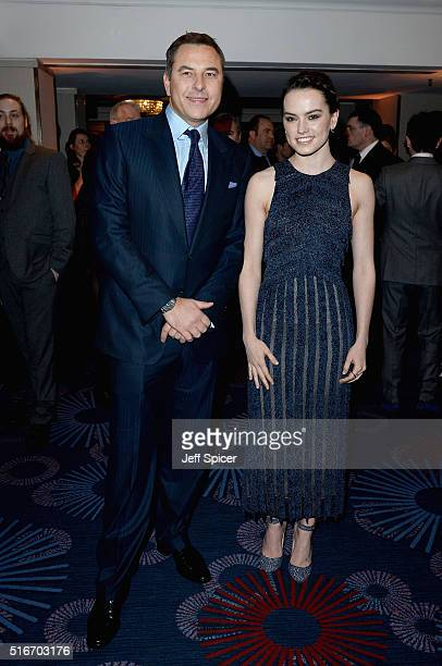 David Walliams and Daisy Ridley attend the Jameson Empire Awards 2016 at The Grosvenor House Hotel on March 20 2016 in London England