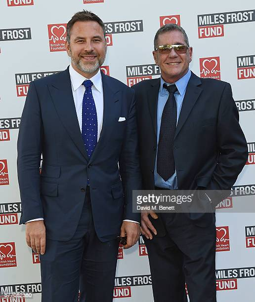 David Walliams and Dale Winton attend The Frost family final Summer Party to raise money for the Miles Frost Fund in partnership with the British...