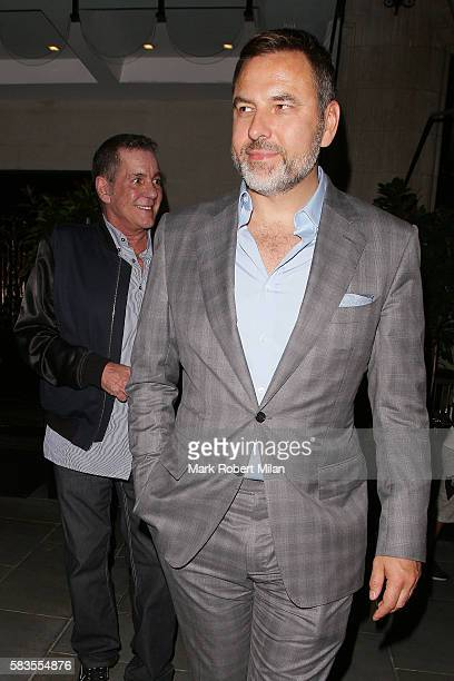 David Walliams and Dale Winton leaving Scotts restaurant on July 26 2016 in London England