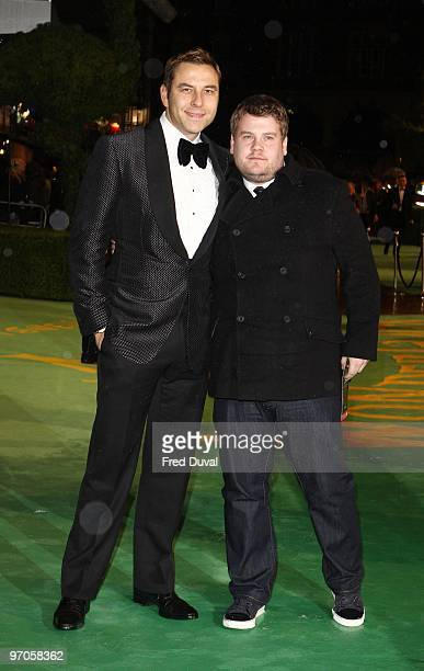 David Walliams and James Corden attends the Royal World Premiere of Tim Burton's 'Alice In Wonderland' at Odeon Leicester Square on February 25 2010...