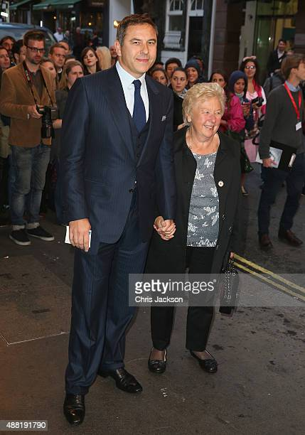 David Walliams and Kathleen Williams attend the press night of Photograph 51 at Noel Coward Theatre on September 14 2015 in London England