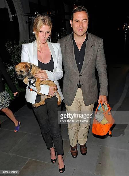 David Walliams and Lara Stone are seen on May 30 2012 in London United Kingdom