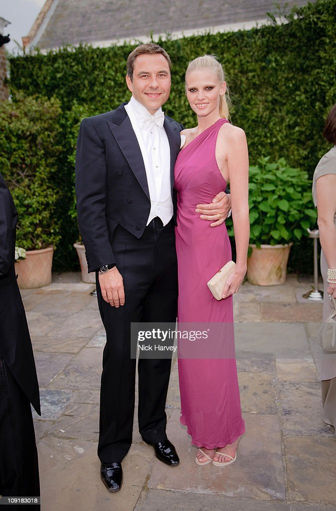 David Walliams and Lara Stone attend the annual Raisa Gorbachev Foundation Party at Stud House, Hampton Court on June 5, 2010 in London, England.