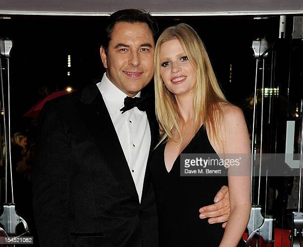 David Walliams and Lara Stone attend the Gala Premiere of 'Great Expectations' which closes the 56th BFI London Film Festival at Odeon Leicester...
