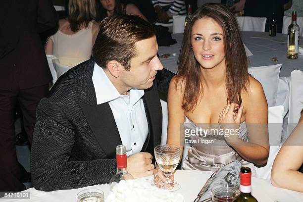 David Walliams and Lauren Budd attends the afterparty of The Elle Style Awards 2009 held at Big Sky Studios Caledonian Road on February 9 2009 in...