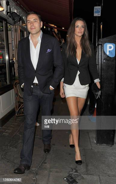 David Walliams and model Lauren Budd are seen on July 22 2009 in London England