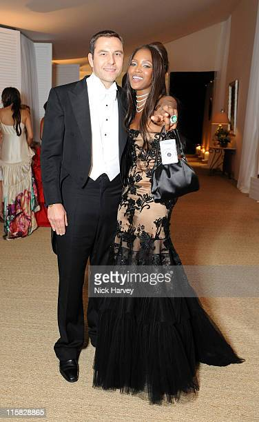 David Walliams and Naomi Campbell attend the 10th Annual White Tie and Tiara Ball to benefit the Elton John Aids Foundation in association with...
