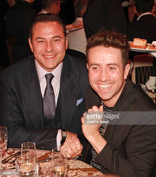 David Walliams and Nick Grimshaw attend a fundraising event in aid of the Nepal Youth Foundation hosted by David Walliams at Banqueting House on...