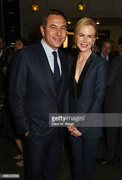 David Walliams and Nicole Kidman attend the 'Photograph 51' press night after party at the The National Cafe on September 14 2015 in London England