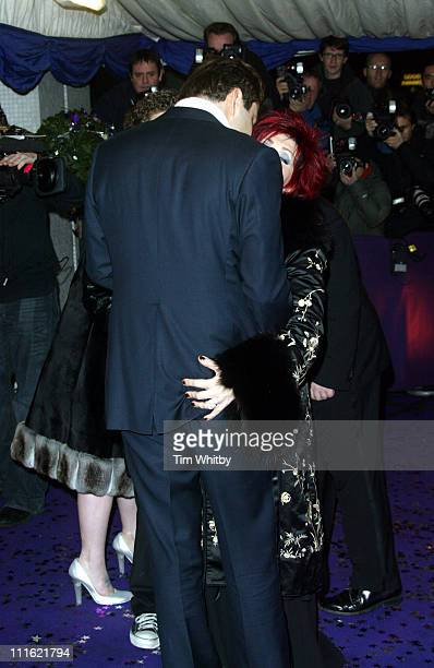 David Walliams and Sharon Osbourne during The British Comedy Awards 2004 Arrivals at LWT Southbank in London Great Britain