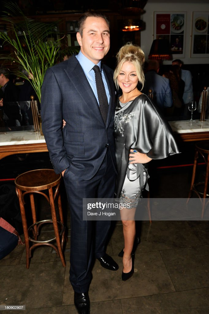 David Walliams and Sheridan Smith attend the afterparty for Midsummer Nights Dream at The National Gallery on September 17, 2013 in London, England.