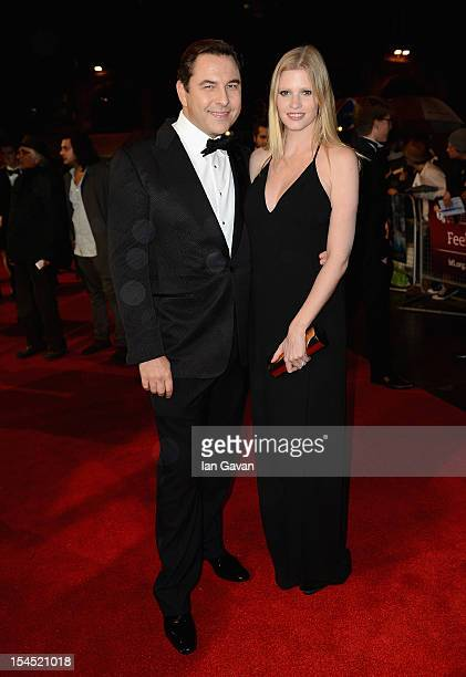 David Walliams and wife Lara Stone attend the Closing Night Gala of 'Great Expectations' during the 56th BFI London Film Festival at Odeon Leicester...