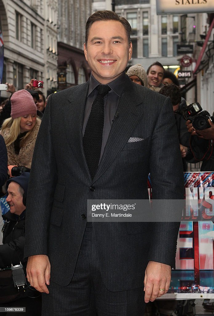 David Walliams arrives for auditions for Britain's Got Talent at London Palladium on January 22, 2013 in London, England.