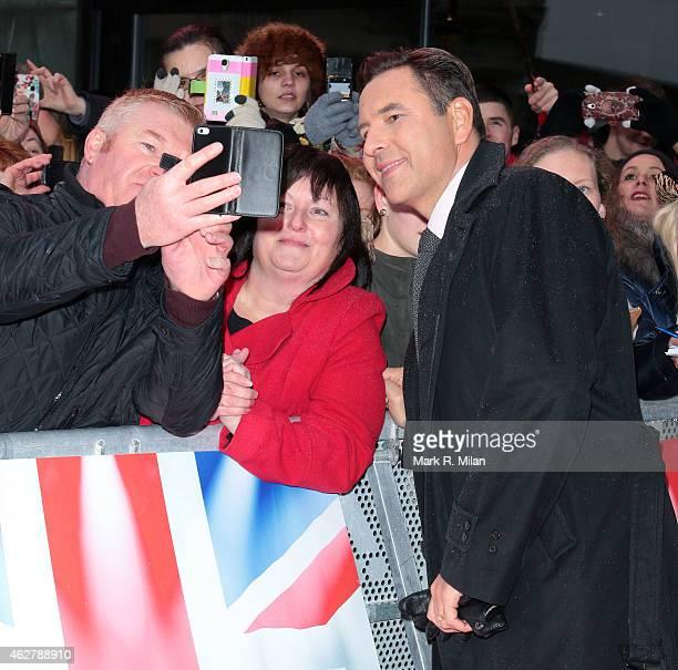 David Walliams arriving at the Birmingham Hippodrome theatre to film the Britains Got Talent auditions at Birmingham Hippodrome on February 5 2015 in...