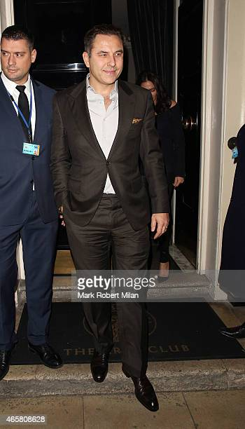 David Walliams at the Arts Club on March 10 2015 in London England