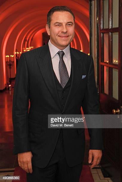 David Walliams attends a fundraising event in aid of the Nepal Youth Foundation hosted by David Walliams at Banqueting House on October 1 2015 in...