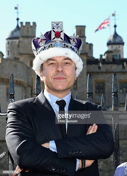 David Walliams attends a photocall to launch 'Gangsta Granny Live' at Tower of London on September 23 2015 in London England