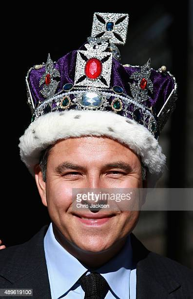 David Walliams attends a photocall to launch Gangsta Granny Live at Tower of London on September 23 2015 in London England