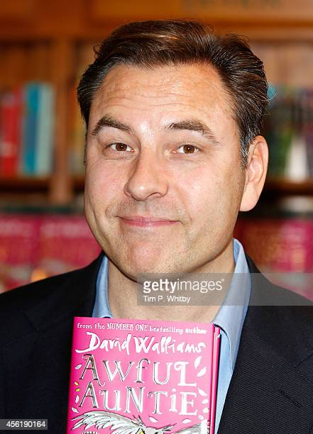 David Walliams attends a signing of his new book Awful Auntie at Daunt Books on September 27 2014 in London England