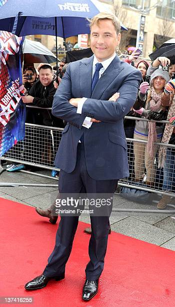 David Walliams attends the first day of auditions for Britain's Got Talent at The Lowry on January 20 2012 in Manchester England