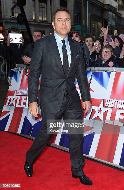 David Walliams attends the London auditions of Britain's Got Talent at Dominion Theatre on January 26 2016 in London England