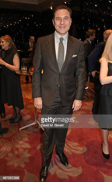 David Walliams attends the Mel Brooks BFI Fellowship Dinner at The May Fair Hotel on March 20 2015 in London England