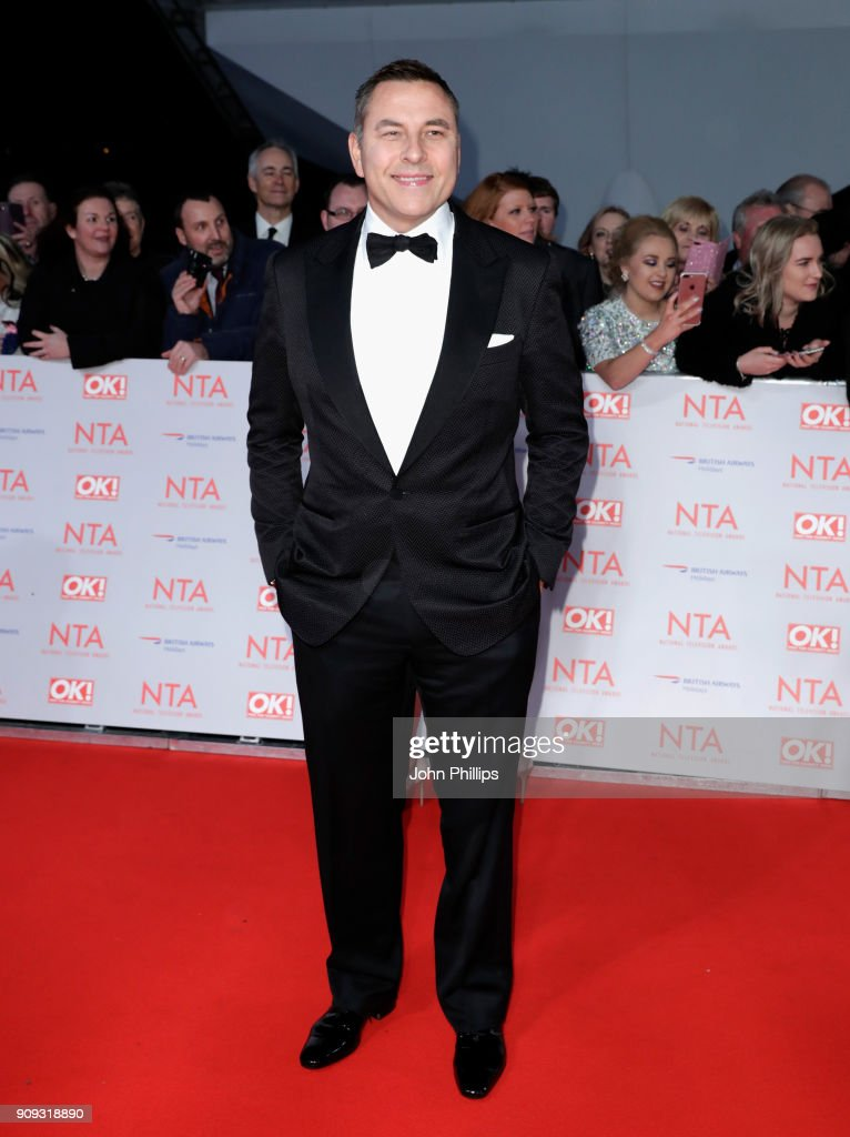 David Walliams attends the National Television Awards 2018 at the O2 Arena on January 23, 2018 in London, England.