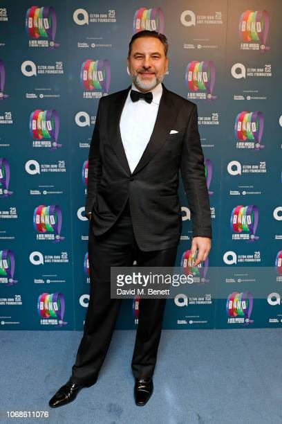 David Walliams attends the Opening Night Gala of The Band to benefit the Elton John AIDS Foundation supported by The Evening Standard at Theatre...