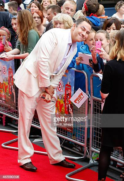 David Walliams attends the World Premiere of Pudsey The Dog The Movie at Vue West End on July 13 2014 in London England