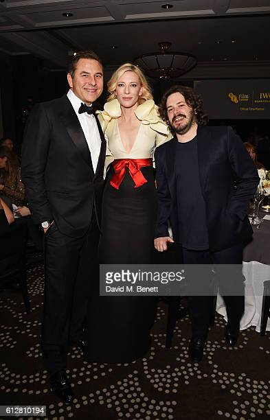 David Walliams Cate Blanchett and Edgar Wright attend the IWC Schaffhausen Dinner in Honour of the BFI at Rosewood London on October 4 2016 in London...