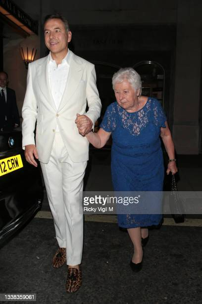 David Walliams celebrates his 50th Birthday party at Claridge's hotel with mum Kathleen Williams in Mayfair on September 04, 2021 in London, England.