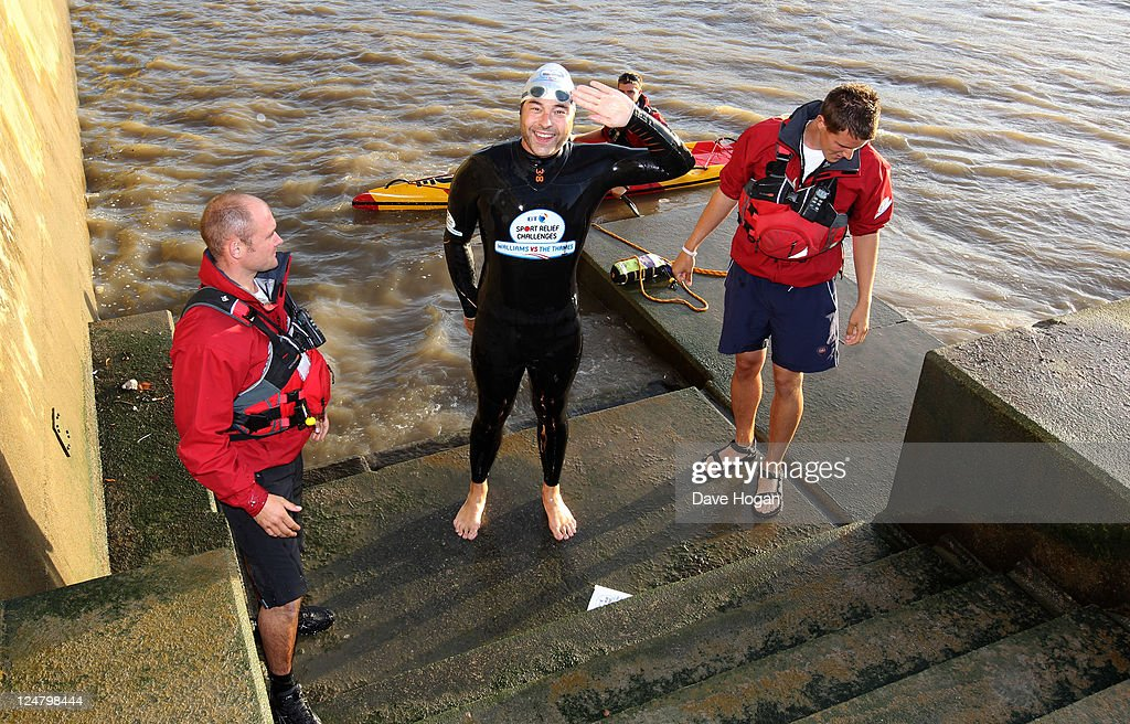 David Walliams Completes His Charity Swim Up The Thames
