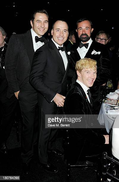 David Walliams David Furnish Evgeny Lebedev and Benedict Cumberbatch attend the Grey Goose Winter Ball to benefit the Elton John AIDS Foundation at...