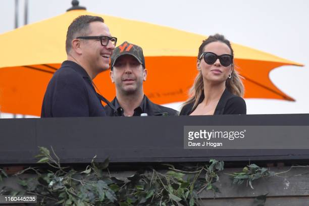 David Walliams David Schwimmer and Kate Beckinsale attend Barclaycard Presents British Summer Time Hyde Park at Hyde Park on July 06 2019 in London...