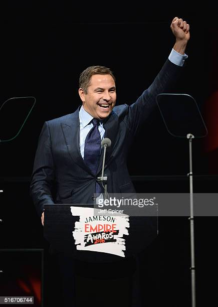 David Walliams hosts on stage during the Jameson Empire Awards 2016 at The Grosvenor House Hotel on March 20 2016 in London England