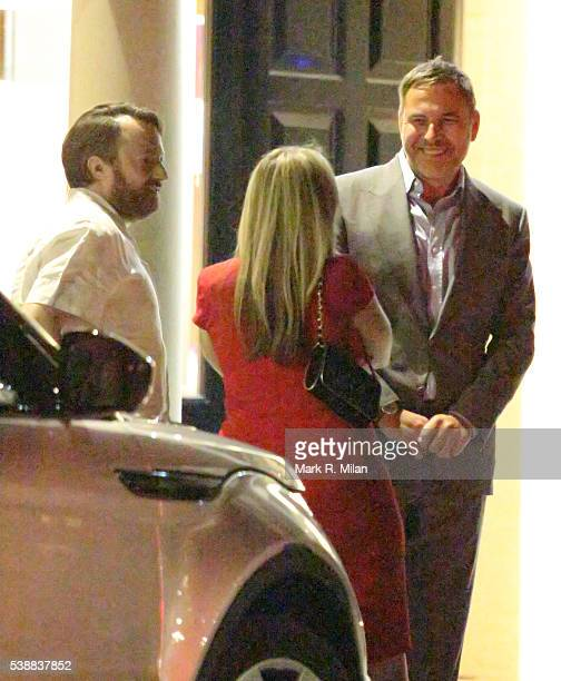 David Walliams is seen talking with David Mitchell and Victoria Coren Mitchell on June 6 2016 in London England