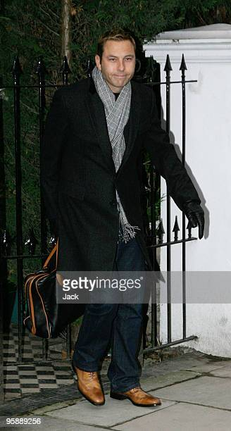 David Walliams leaving his home on January 20 2010 in London England David recently announced his engagement to Lara Stone