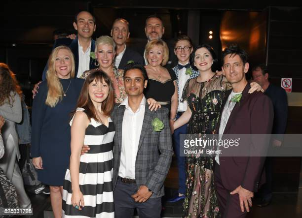 David Walliams poses with director Neal Foster and cast members Sophie Gibbs Louise Bailey Matt Barkley Liz Garland Gilly Tompkins Ashley Cousins...