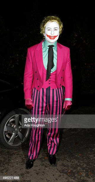 David Walliams seen arriving at Jonathan Ross's halloween party on October 31 2015 in London England