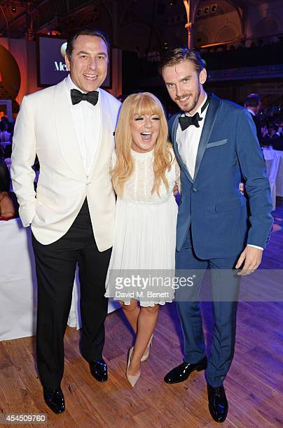 David Walliams Sheridan Smith and Dan Stevens attend the GQ Men Of The Year awards in association with Hugo Boss at The Royal Opera House on...