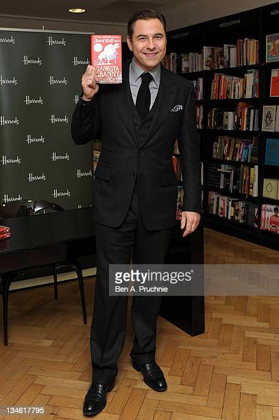 David Walliams signs copies of his children's novel 'Gangsta Granny' at Harrods on December 3 2011 in London England