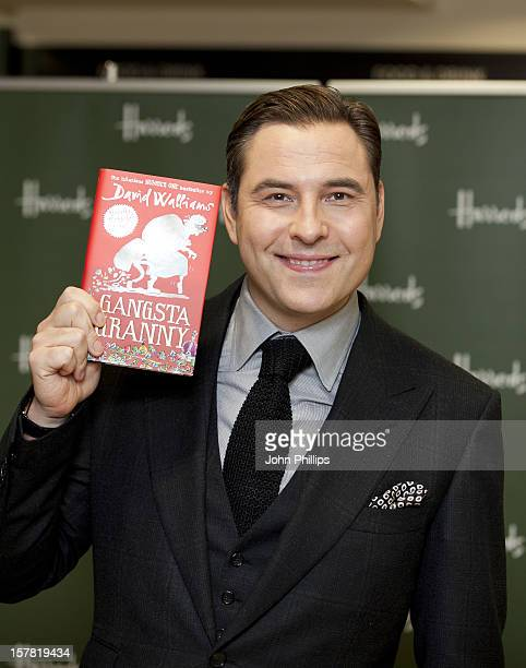 David Walliams Signs Copies Of His Children'S Novel 'Gangsta Granny' At Harrods