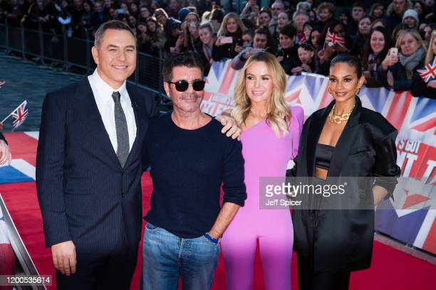 David Walliams Simon Cowell Amanda Holden and Alesha Dixon attend the Britain's Got Talent 2020 photocall at London Palladium on January 19 2020 in...