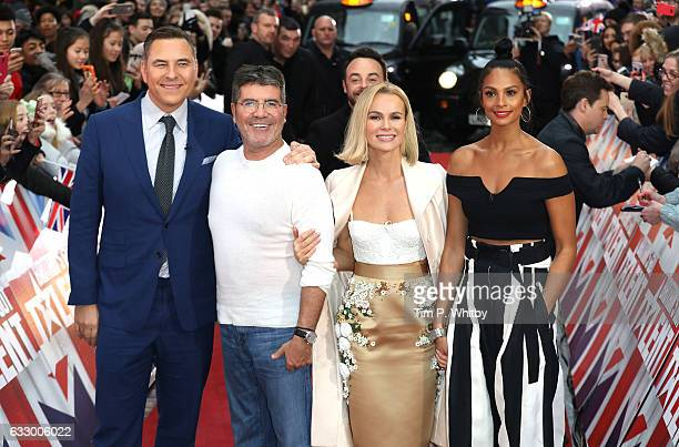 David Walliams Simon Cowell Amanda Holden and Alesha Dixon attend the Britain's Got Talent London Auditions at The London Paladium on January 29 2017...