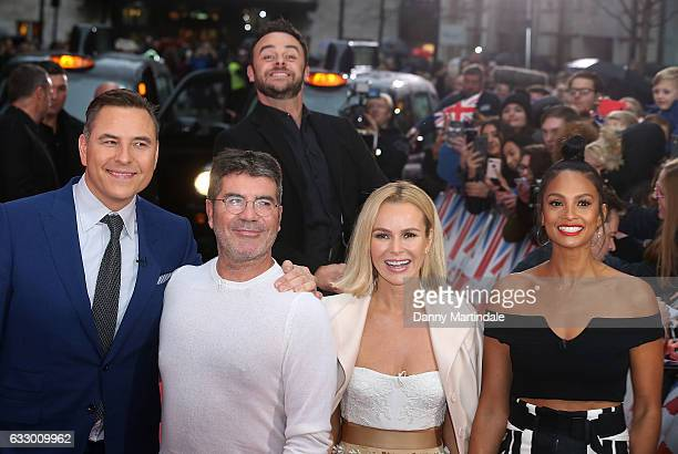 David Walliams Simon Cowell Ant McPartlin Amanda Holden and Alesha Dixon attend Britain's Got Talent London Auditions Photocall on January 29 2017 in...